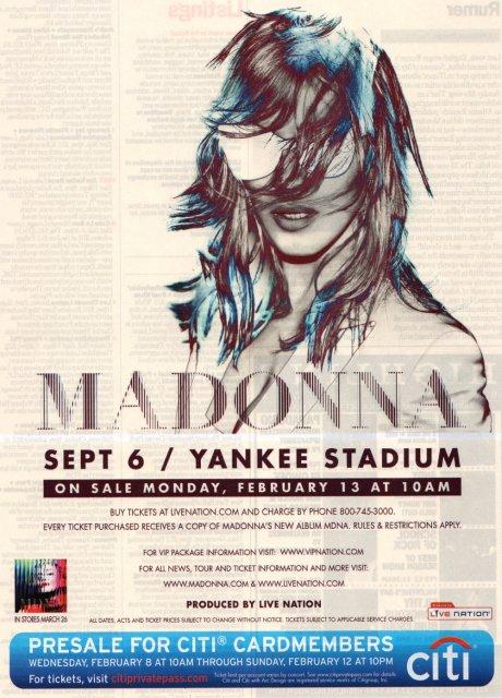 Madonna 2012 World Tour Yankee